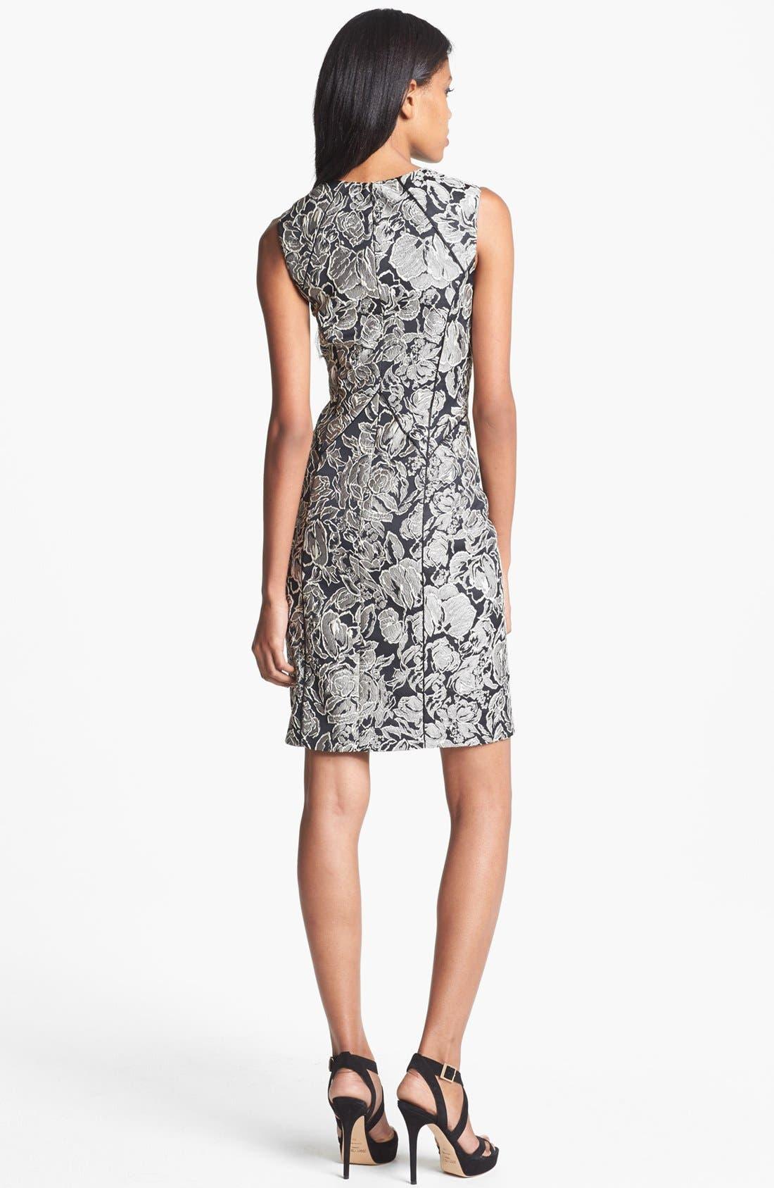 Alternate Image 2  - Aidan Mattox Textured Floral Sheath Dress