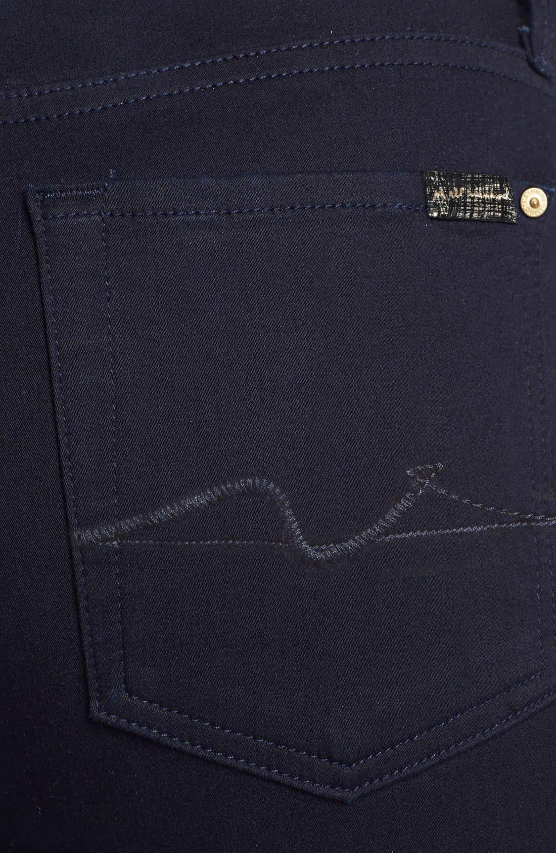 Alternate Image 3  - 7 For All Mankind® 'The Skinny' Stretch Jeans (Elasticity Clean Blue)