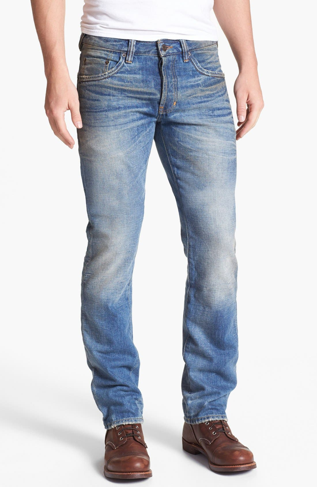 Alternate Image 2  - Natural Selection Denim Straight Leg Jeans (Gamma)
