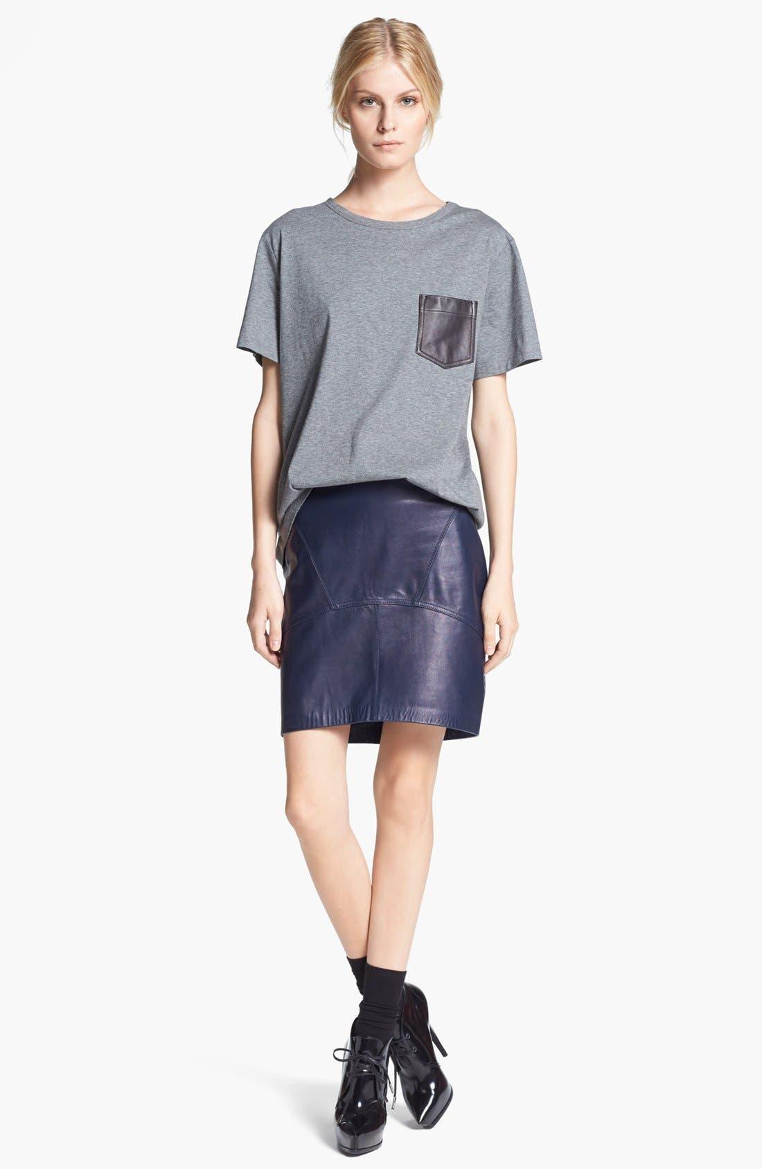 Alternate Image 4  - T by Alexander Wang Lightweight Leather Skirt