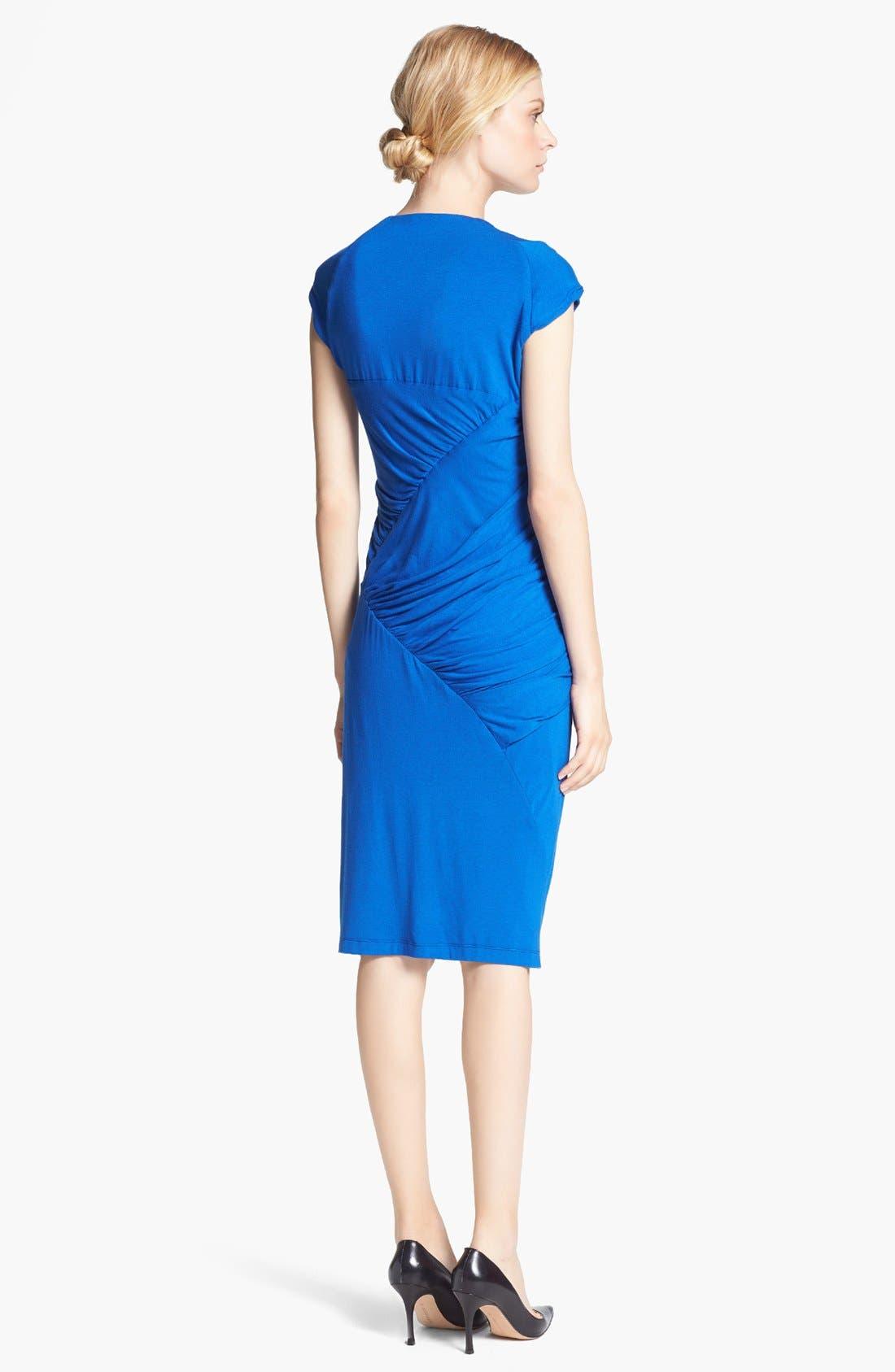 Alternate Image 2  - Donna Karan Collection Draped Mélange Jersey Dress