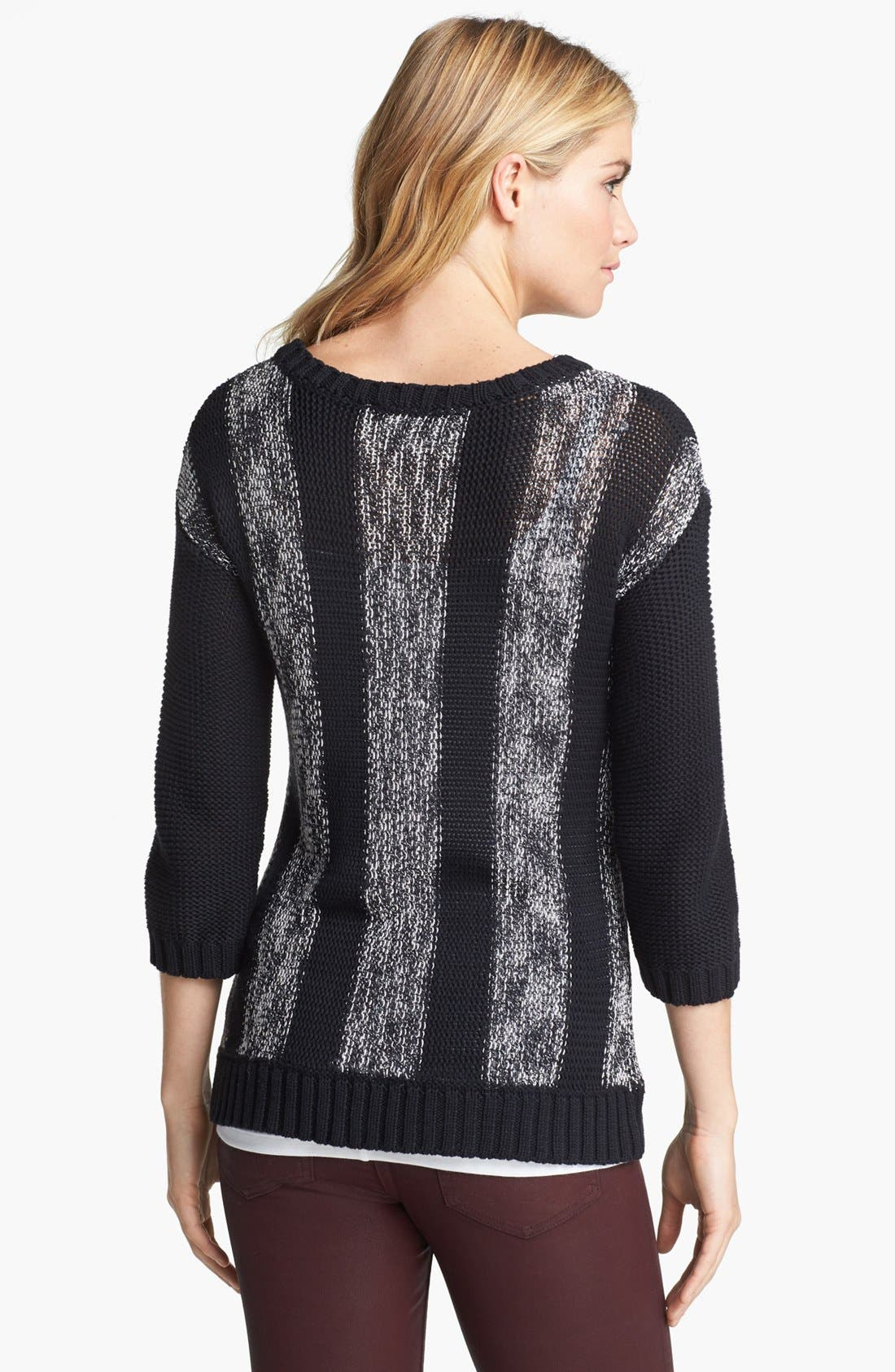 Alternate Image 2  - Two by Vince Camuto Mix Stitch Sweater (Online Only)