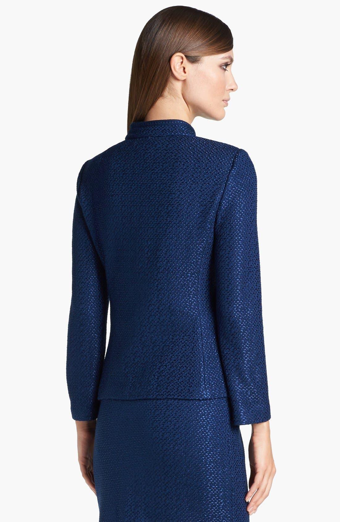 Alternate Image 4  - St. John Collection Stand Collar Tonal Dot Knit Jacket
