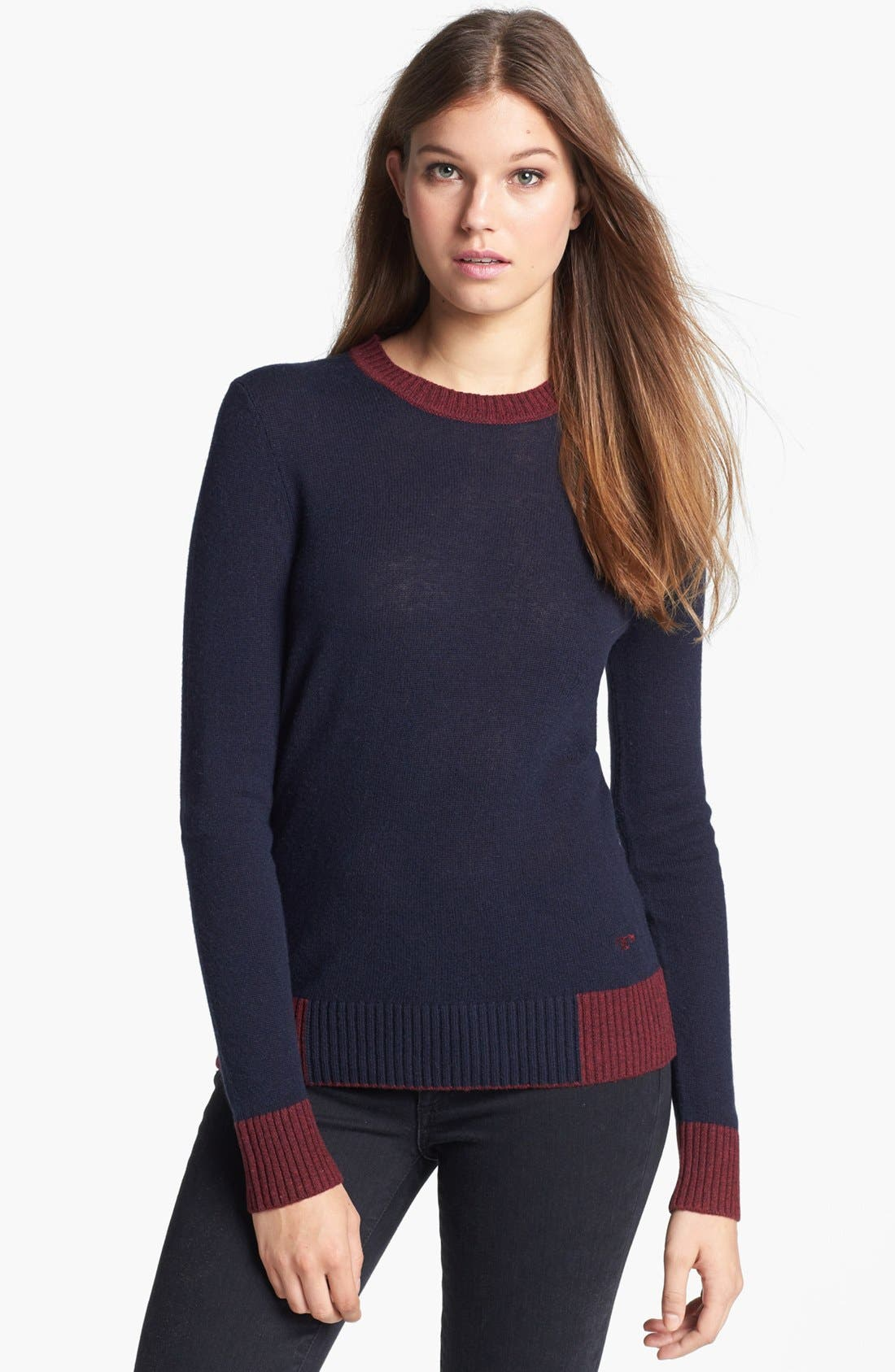 Alternate Image 1 Selected - Tory Burch 'Mandy' Wool & Cashmere Sweater