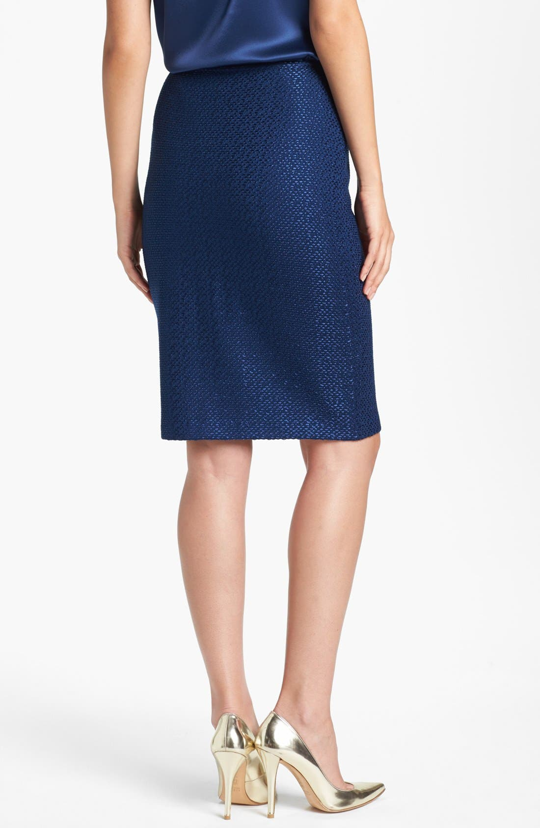 Alternate Image 4  - St. John Collection Tonal Dot Knit Pencil Skirt