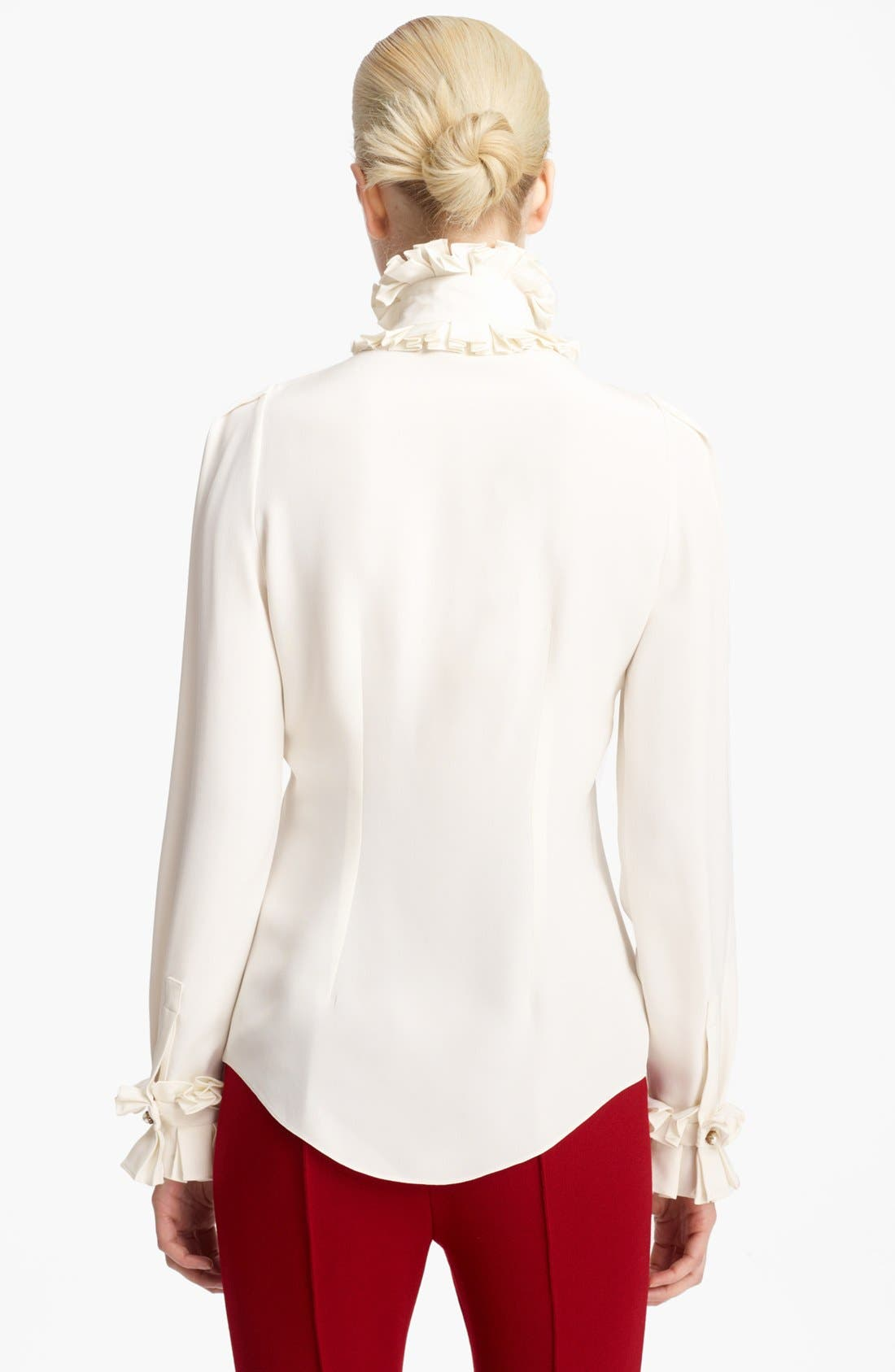 Alternate Image 2  - Alexander McQueen Silk Cady Blouse