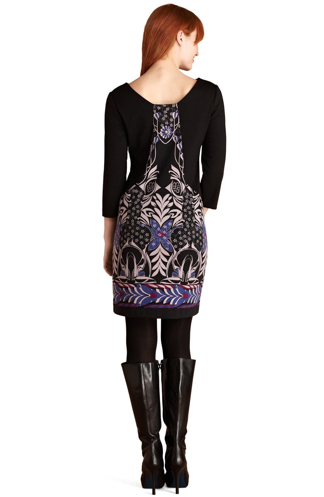 Alternate Image 2  - Donna Morgan Print Ponte Knit Dress