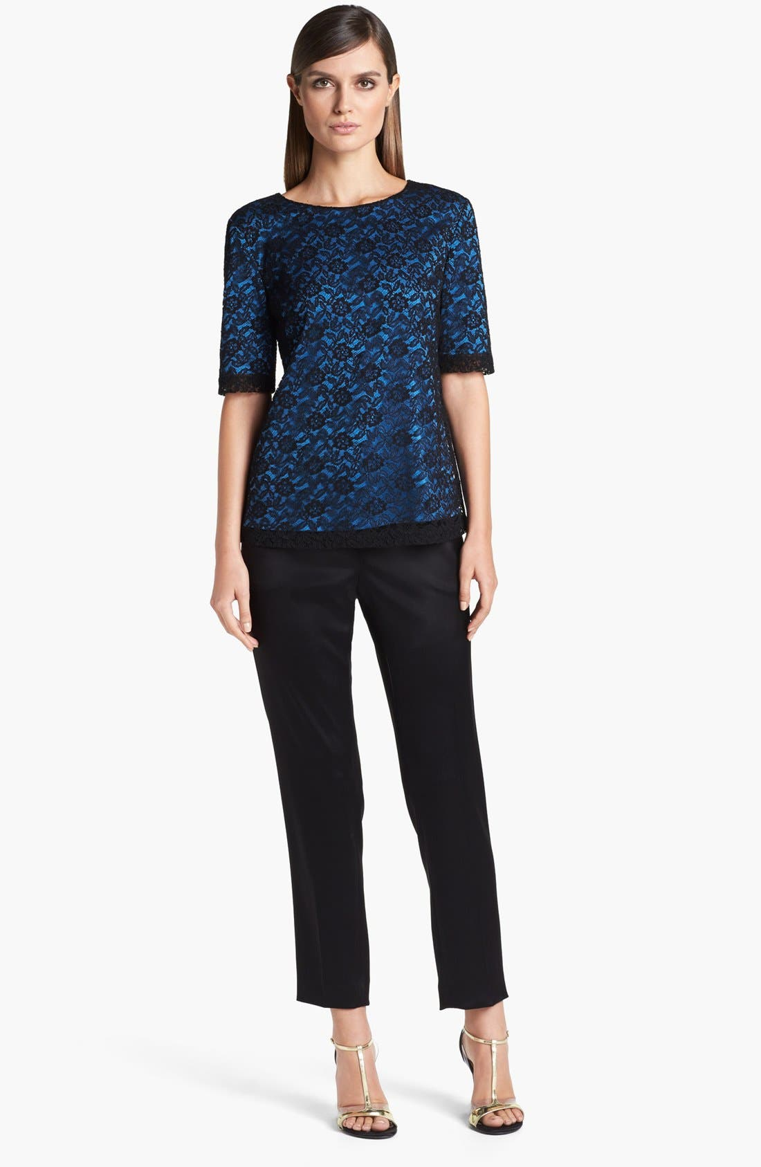 Alternate Image 2  - St. John Collection Floral Lace Top