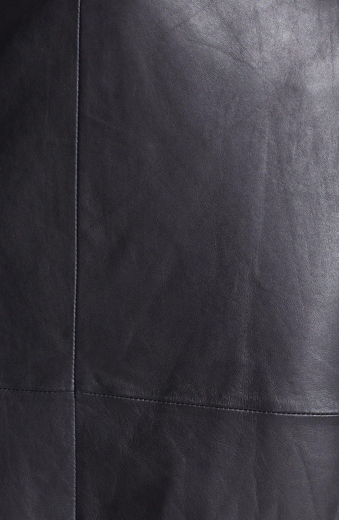 Alternate Image 3  - Trouvé Leather Front Pencil Skirt