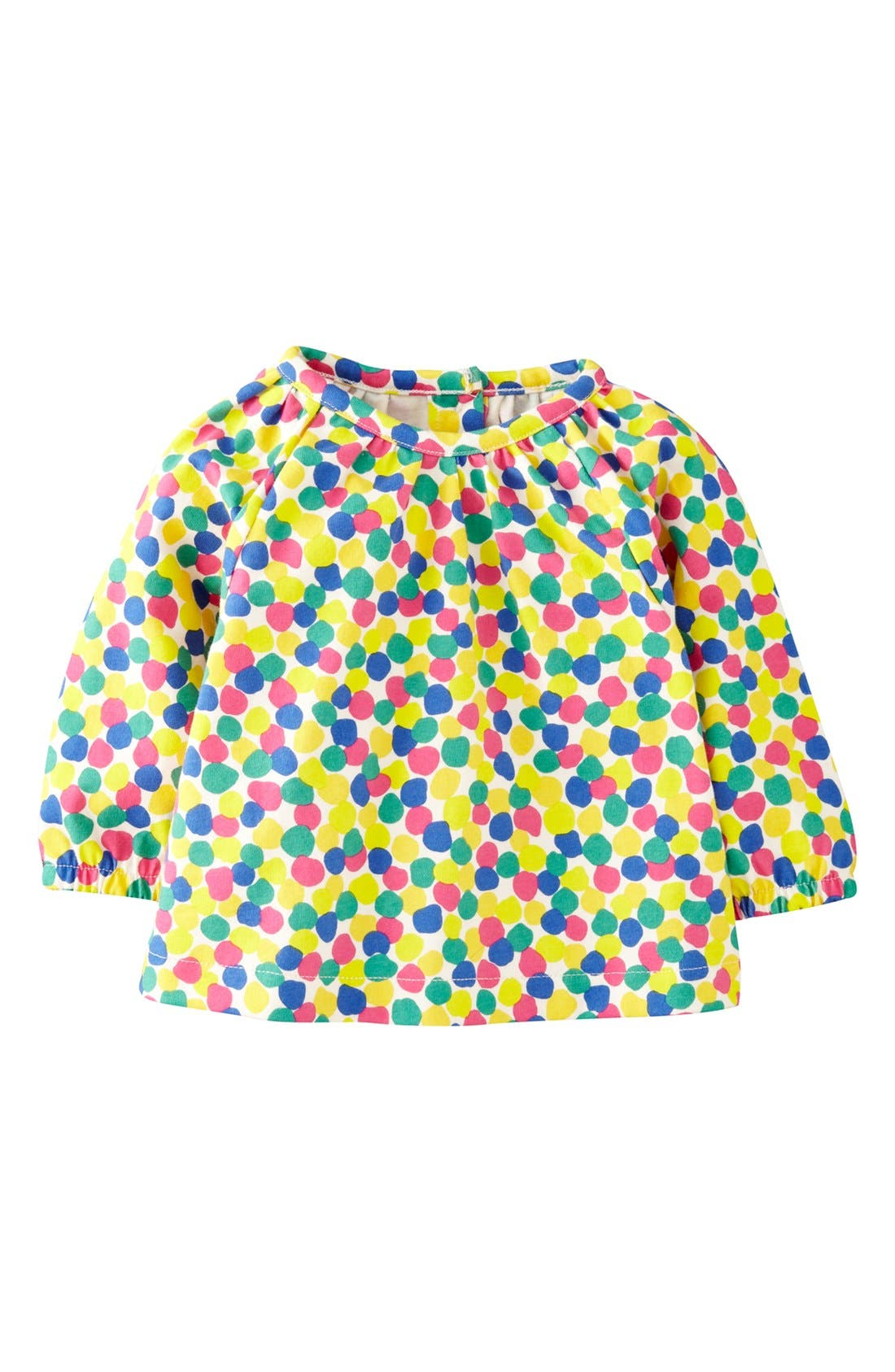 Alternate Image 1 Selected - Mini Boden Long Sleeve Jersey Top (Baby Girls)
