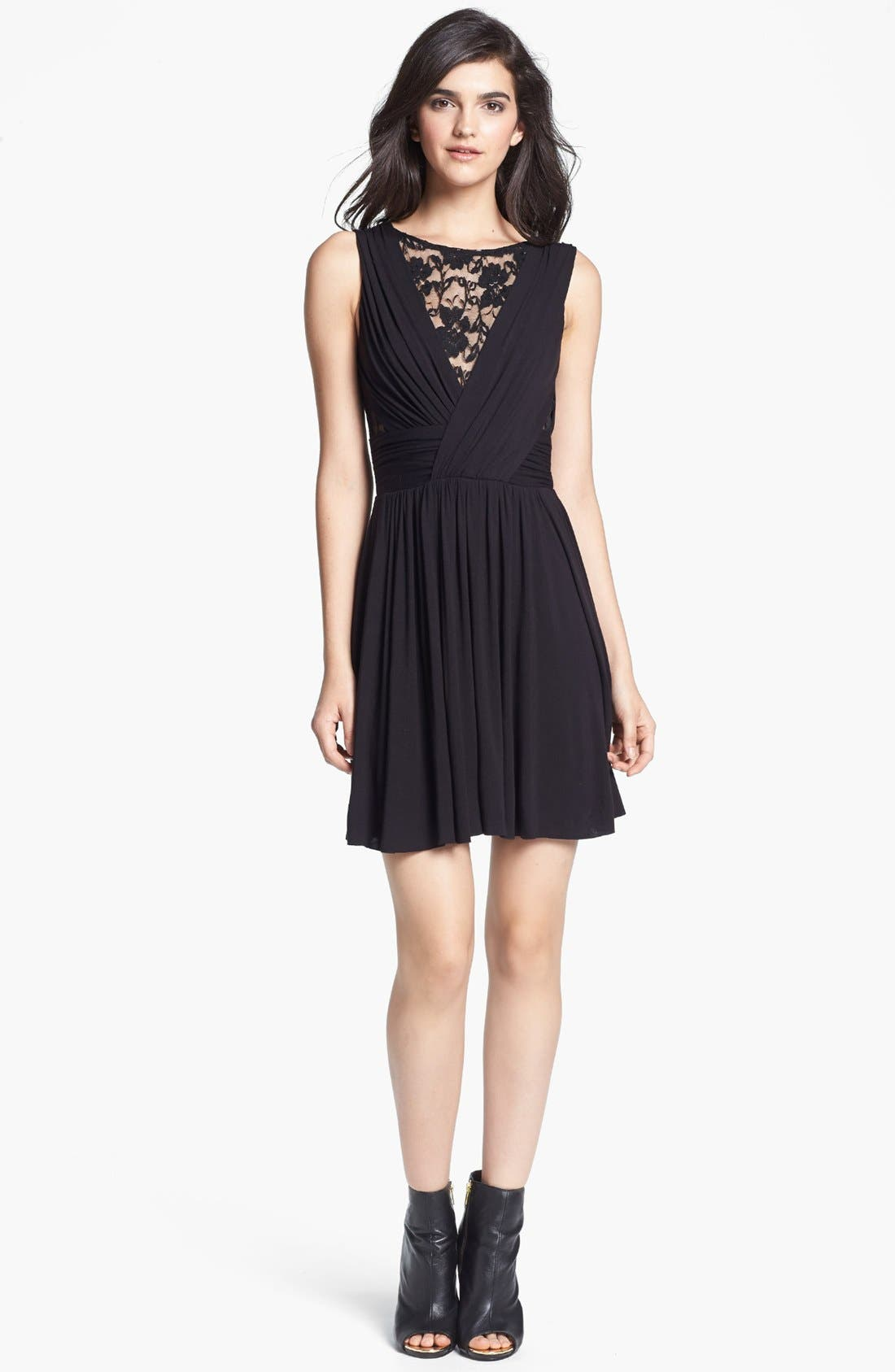 Alternate Image 1 Selected - B44 Dressed by Bailey 44 Lace Inset Jersey Fit & Flare Dress