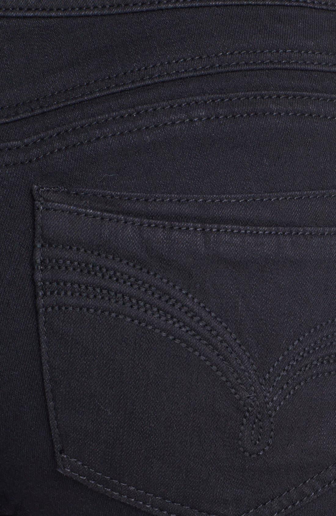 Alternate Image 3  - Jolt Stretch Bootcut Jeans (Black) (Juniors) (Online Only)