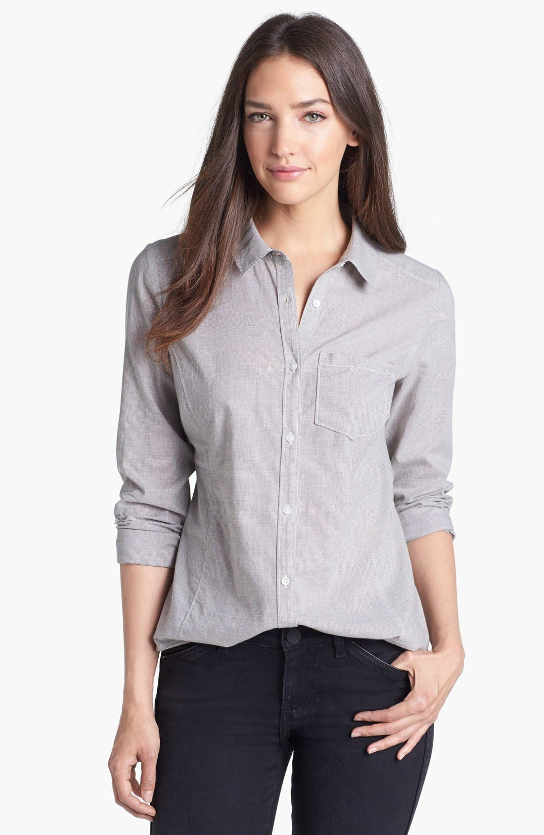 Alternate Image 1 Selected - Caslon® Long Sleeve Shirt (Regular & Petite)
