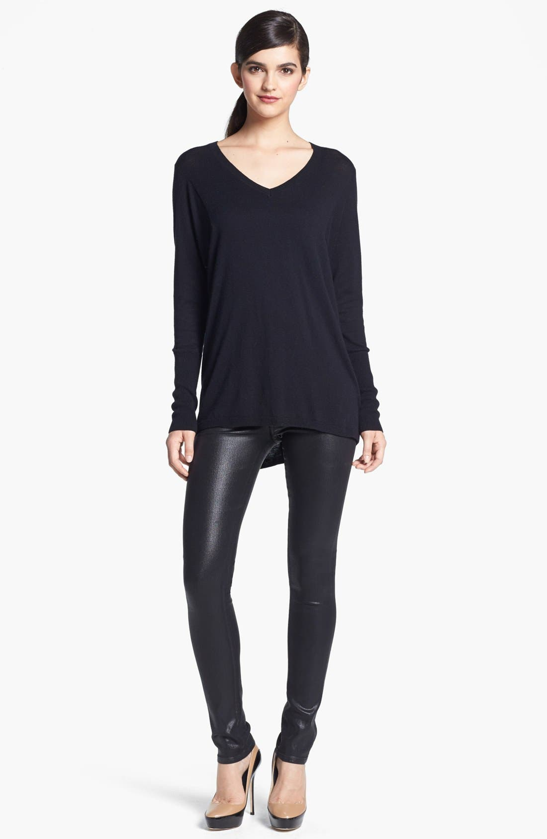 Main Image - Trouvé V-Neck High/Low Sweater