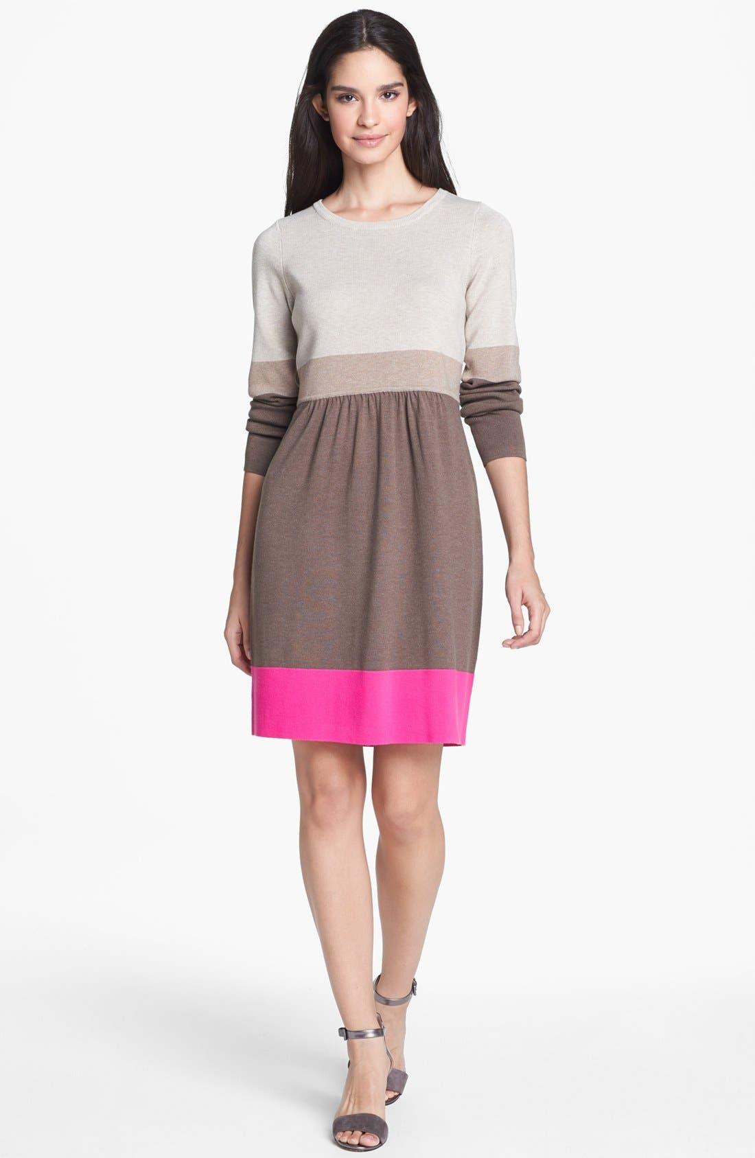 Alternate Image 1 Selected - Eliza J Colorblock Sweater Dress