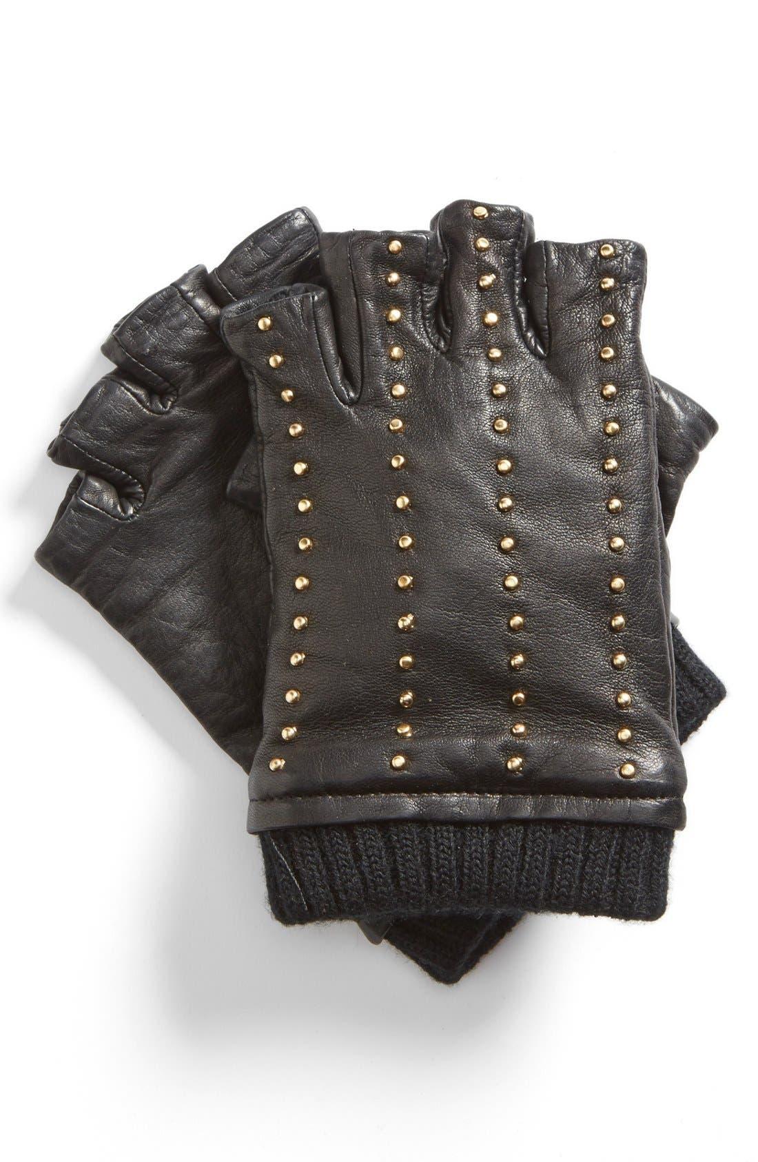 Main Image - MICHAEL Michael Kors Studded Fingerless Gloves