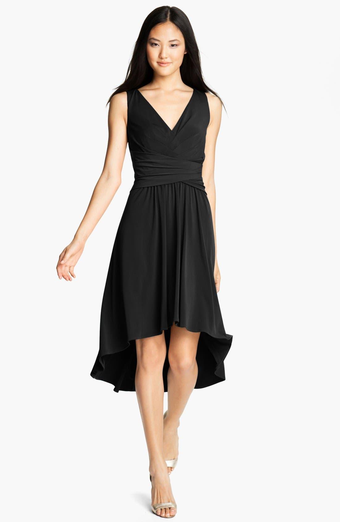 Alternate Image 1 Selected - Ivy & Blu Pleated Front V-Neck Dress