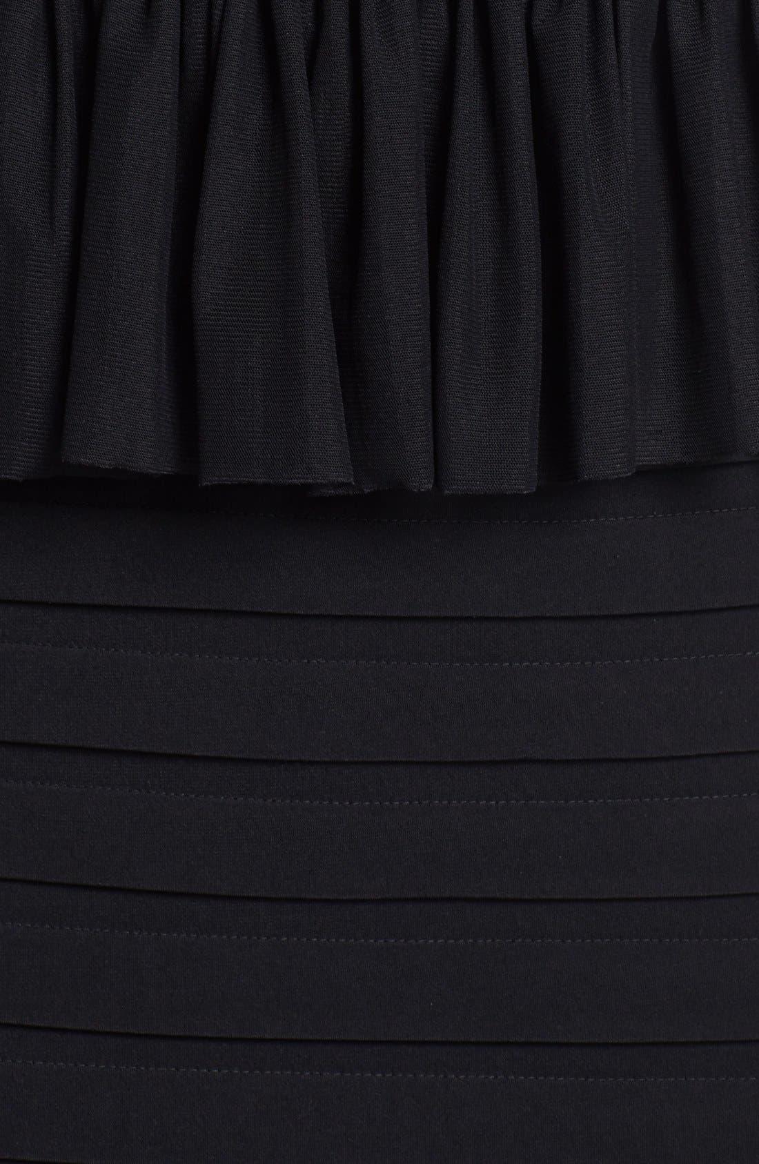 Alternate Image 3  - JAX Mixed Media Peplum Sheath Dress