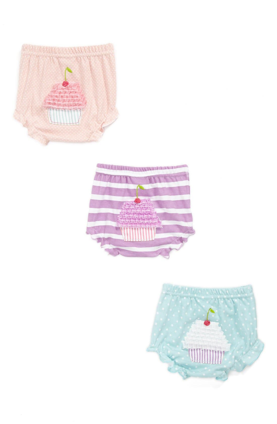 Main Image - Baby Aspen 'Baby Cakes' Bloomers (3-Pack) (Baby)