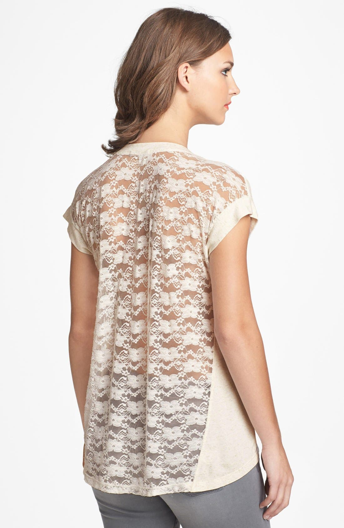 Alternate Image 1 Selected - Pleione Lace Back Tee
