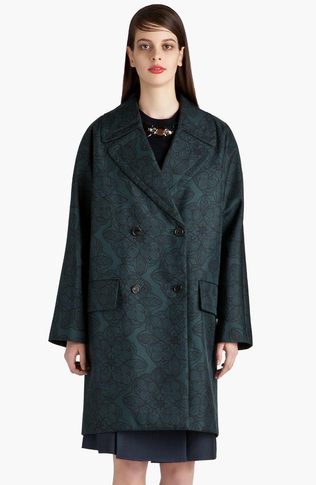 Alternate Image 1 Selected - Marni Snowflower Print Bonded Coat