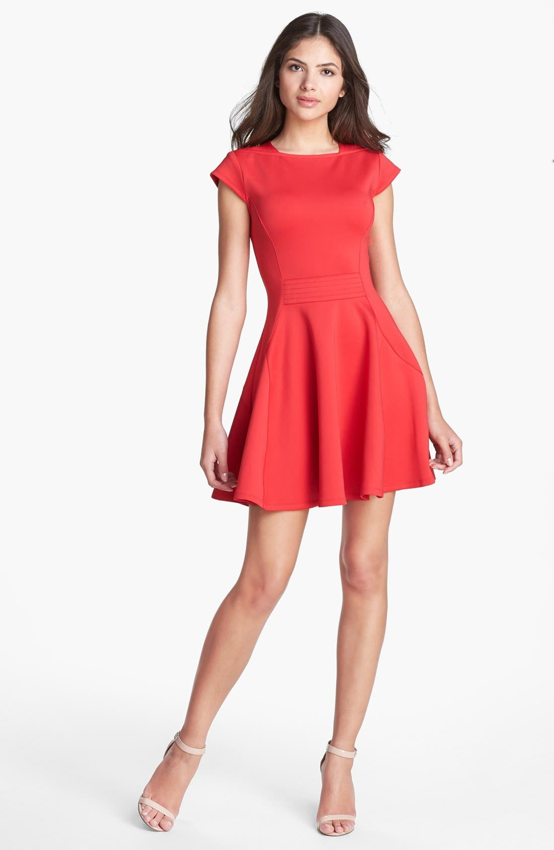 Alternate Image 1 Selected - Ted Baker London 'Tezz' Stretch Skater Dress
