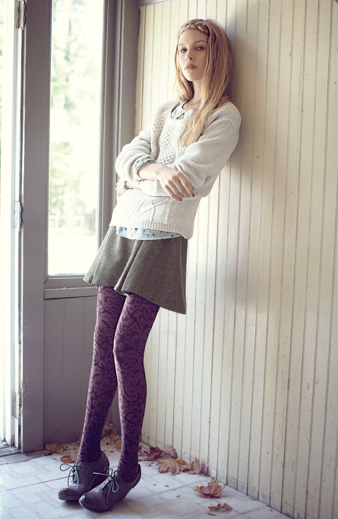 Alternate Image 4  - Hinge® Metallic Tweed Skater Skirt