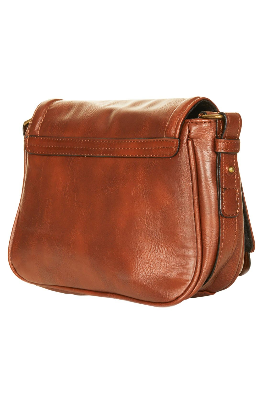Alternate Image 4  - Topshop Faux Leather Crossbody Bag