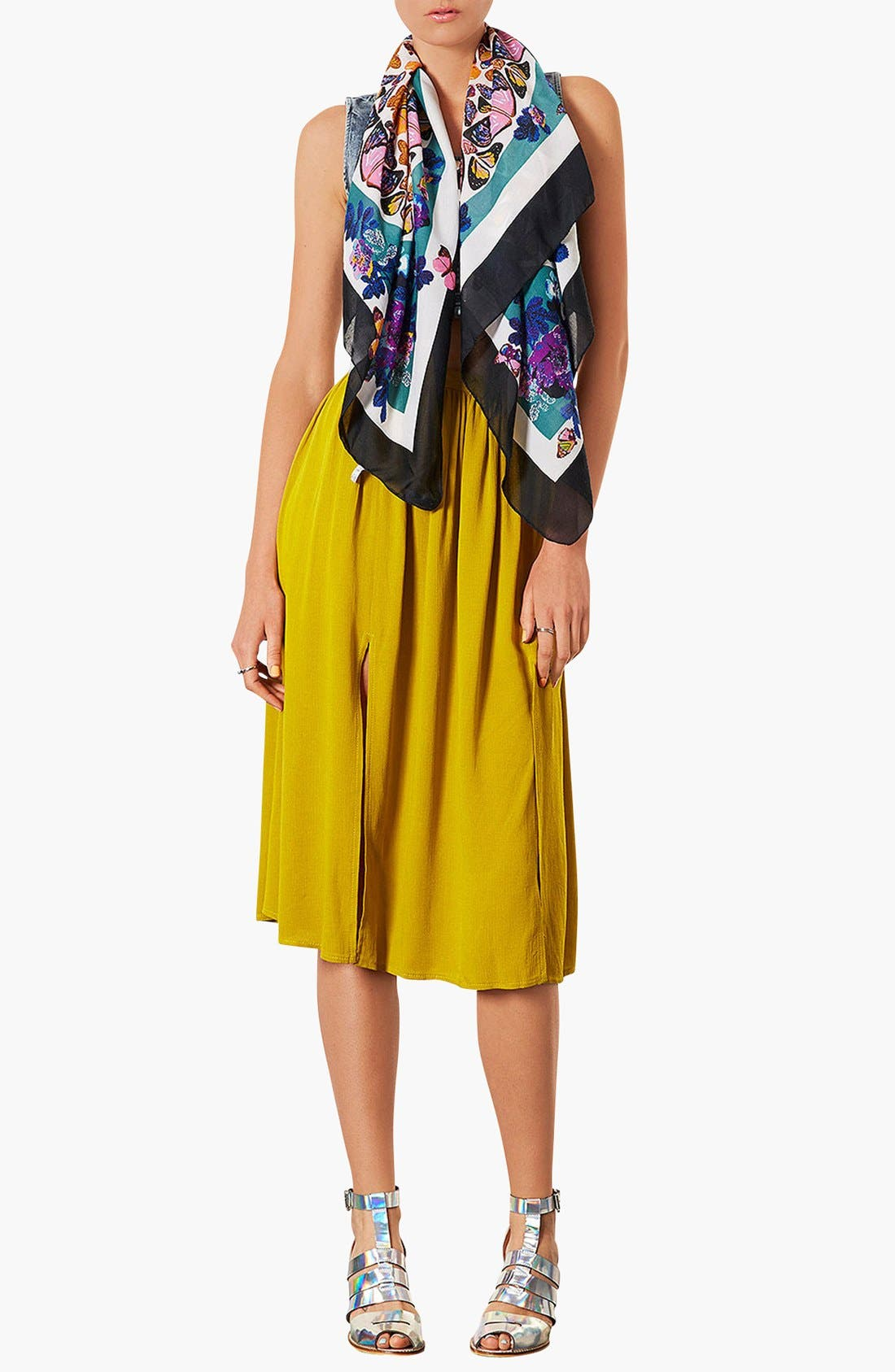 Alternate Image 3  - Topshop Butterfly Print Square Scarf