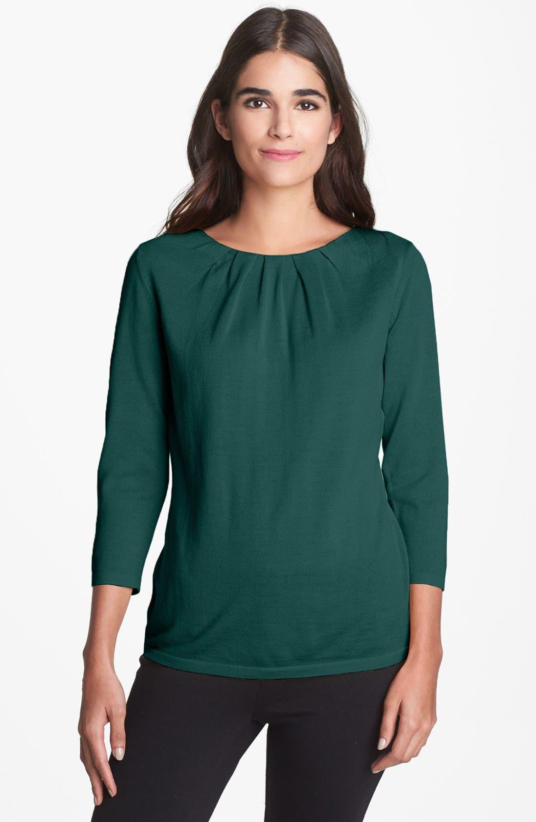 Alternate Image 1 Selected - Classiques Entier® 'Bella Luna' Pleat Neck Sweater