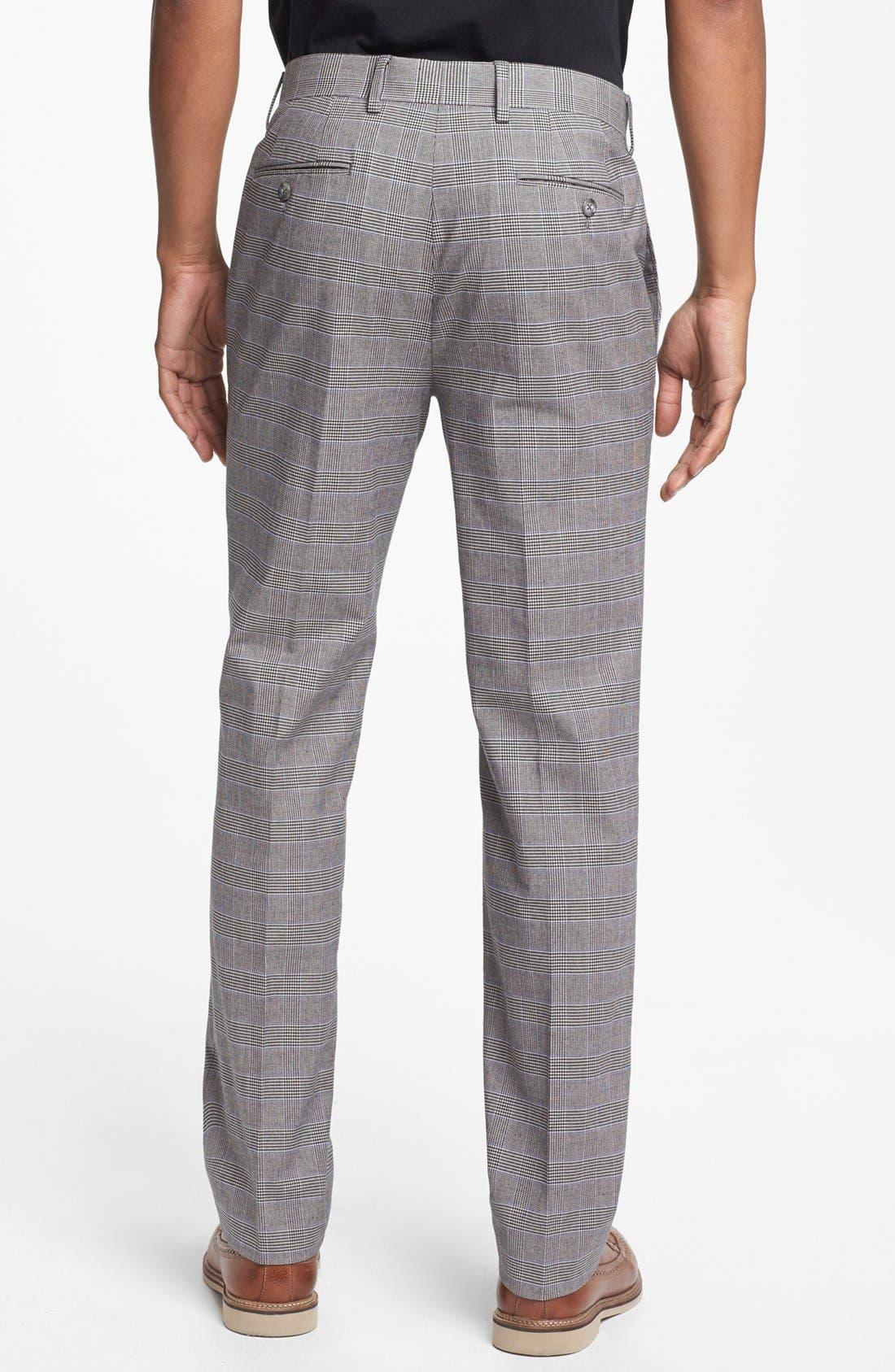 Alternate Image 2  - 1901 Slim Fit Glen Plaid Pants