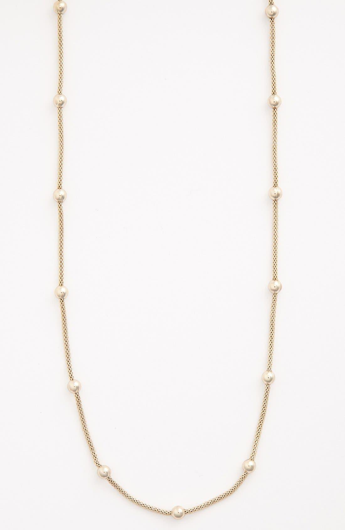 Alternate Image 2  - Anne Klein Bead Station Long Mesh Necklace