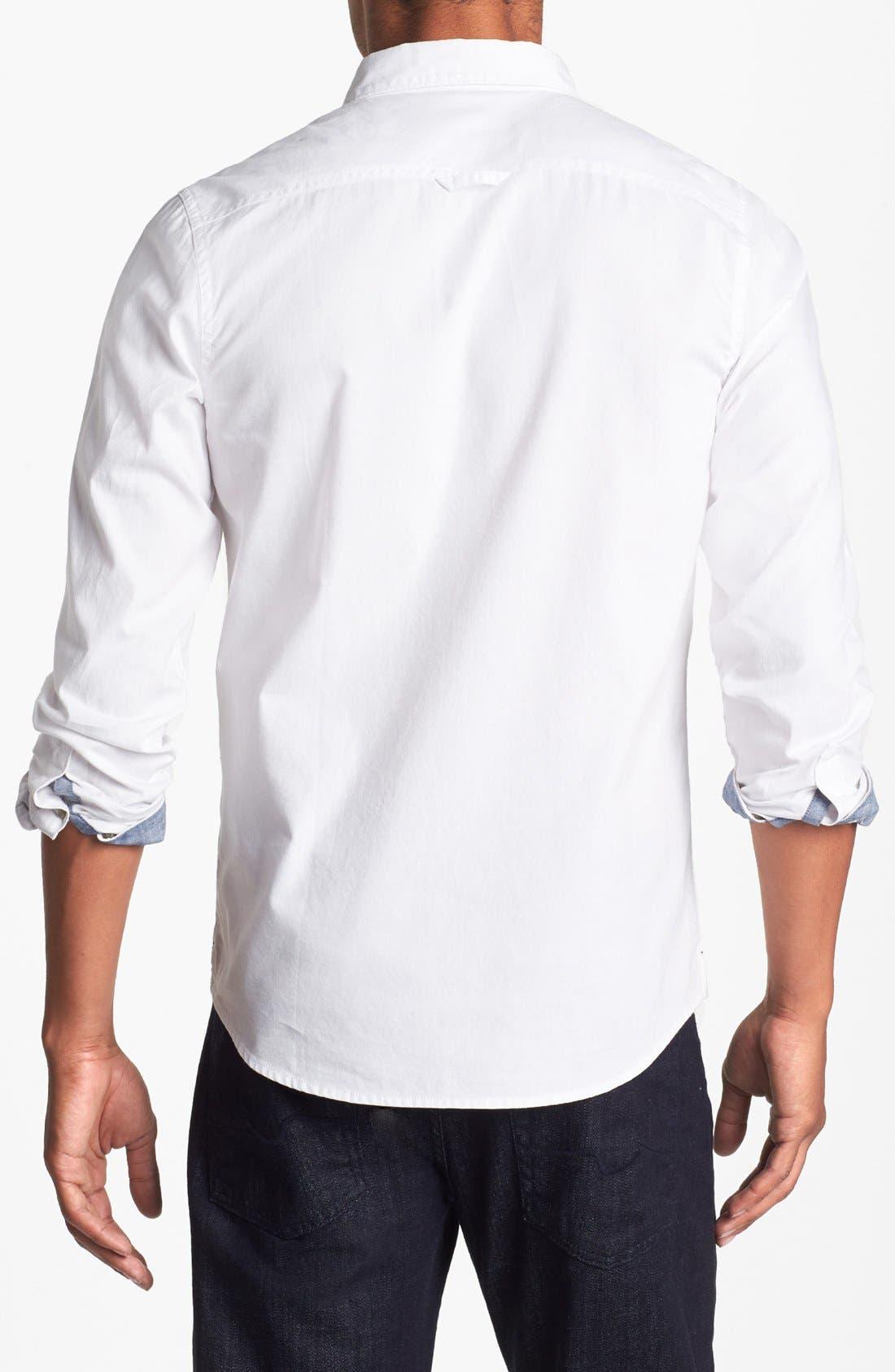 Alternate Image 2  - 1901 Pinpoint Oxford Shirt