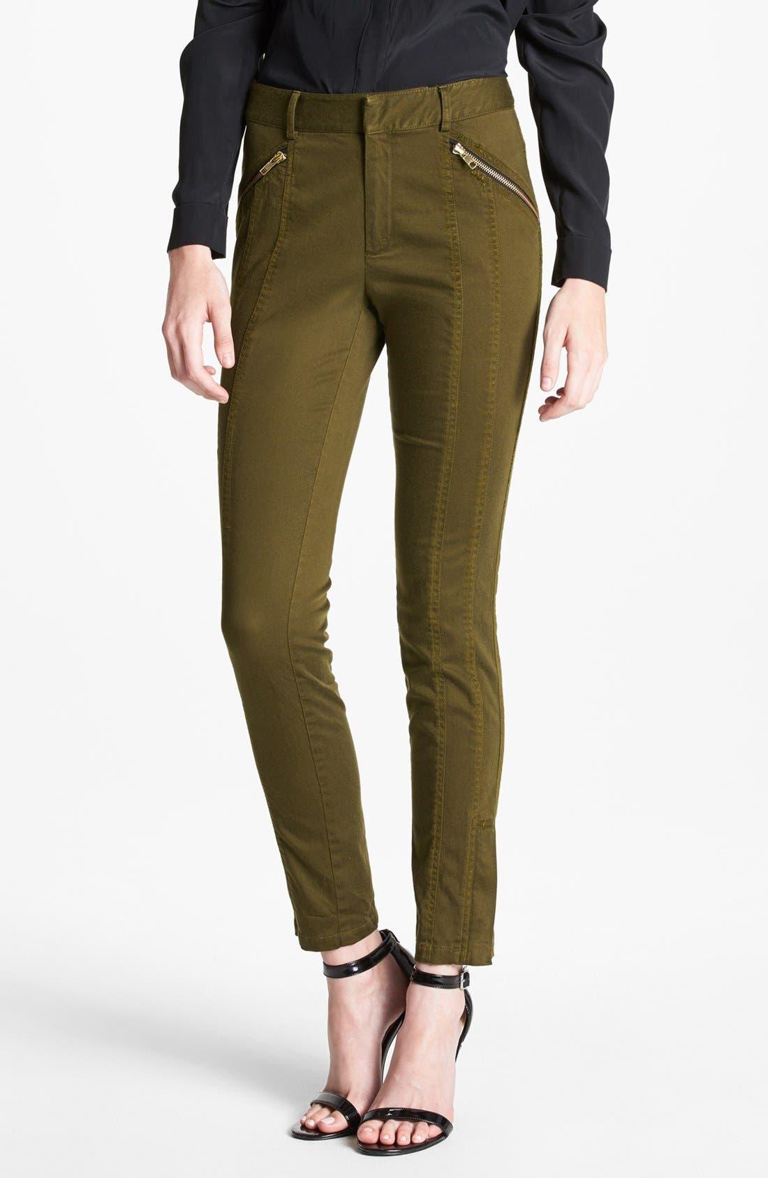 Alternate Image 1 Selected - Nanette Lepore 'Orbit' Seamed Skinny Pants