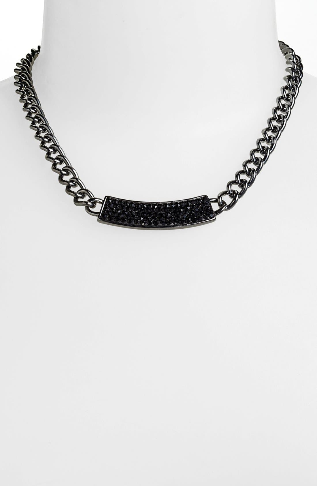 Main Image - Nordstrom 'All that Glitters' Pavé ID Plate Chain Necklace