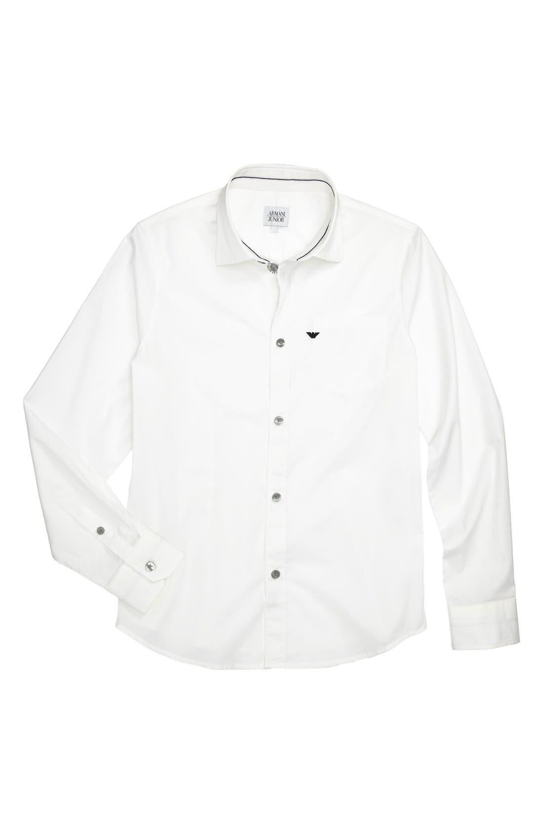 Alternate Image 1 Selected - Armani Junior Sport Shirt (Big Boys)