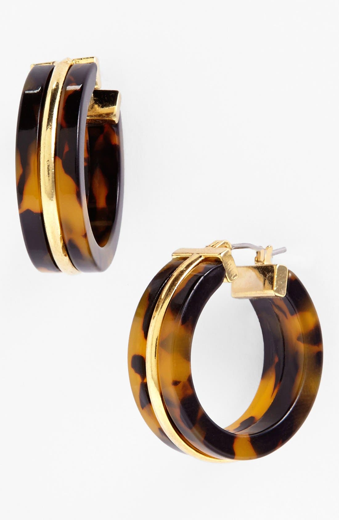 Main Image - Lauren Ralph Lauren Faux Tortoiseshell Hoop Earrings