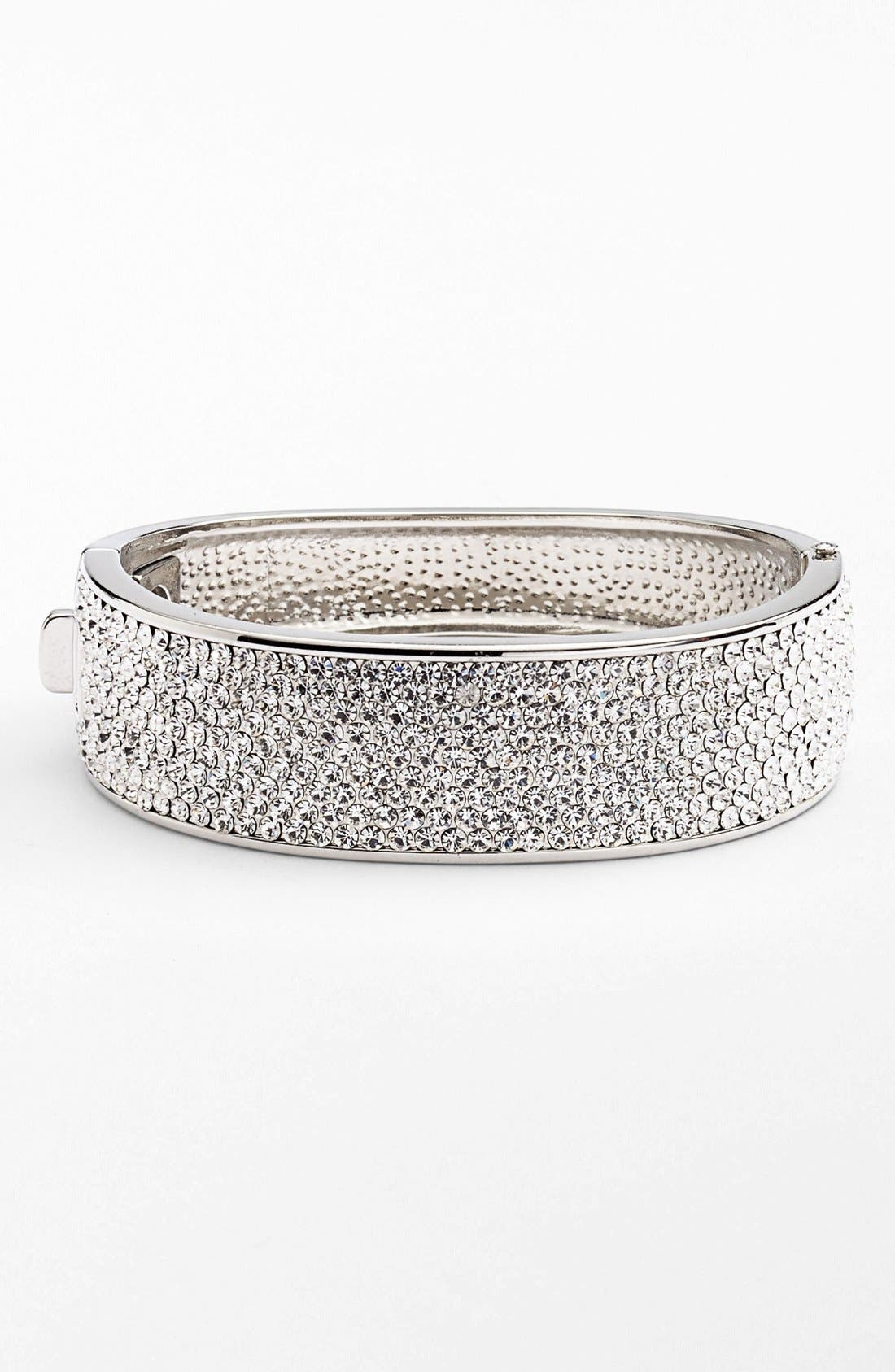Main Image - Cara Allover Pavé Hinged Bangle