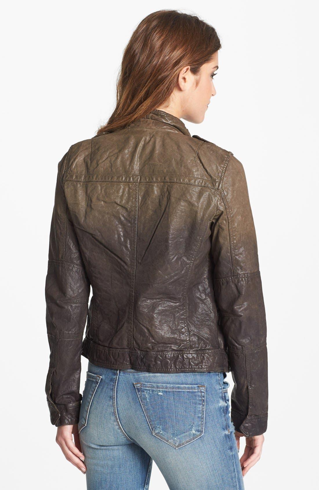 Alternate Image 2  - Q40 Ombré Crinkled Leather Jacket