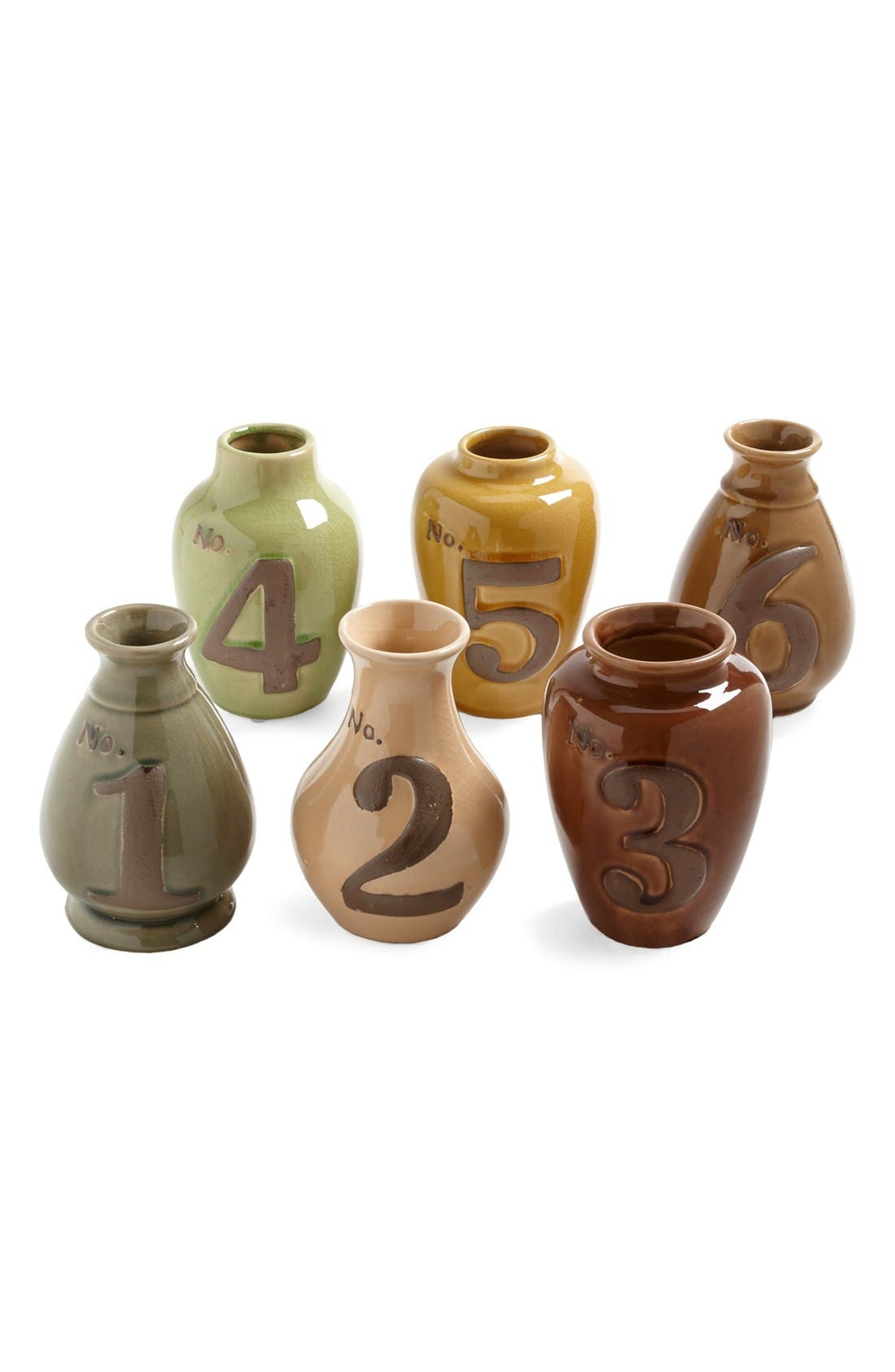 Main Image - Import Collection Number Vases (Set of 6)
