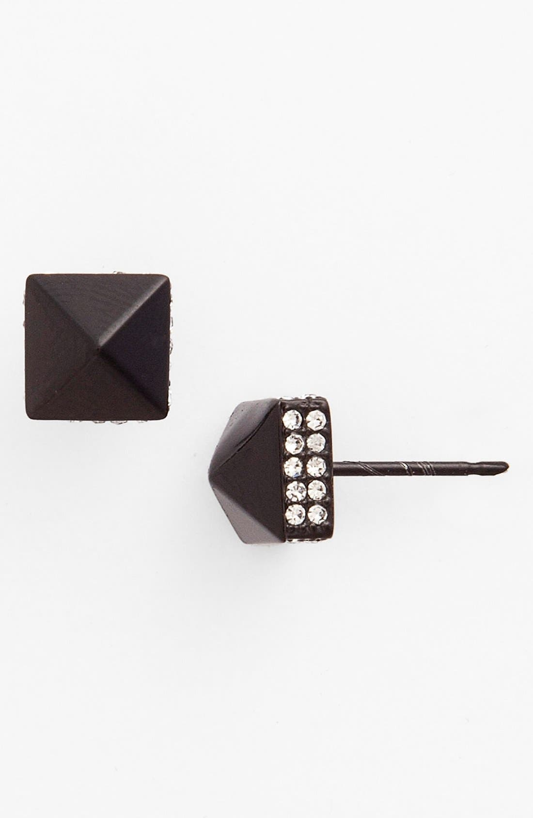 Alternate Image 1 Selected - Vince Camuto Pavé Pyramid Stud Earrings