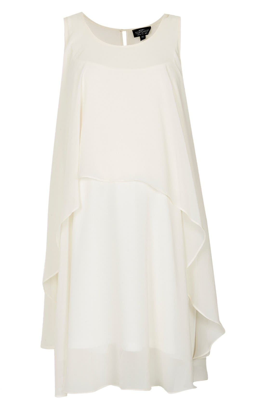Alternate Image 1 Selected - Topshop Waterfall Trapeze Maternity Dress
