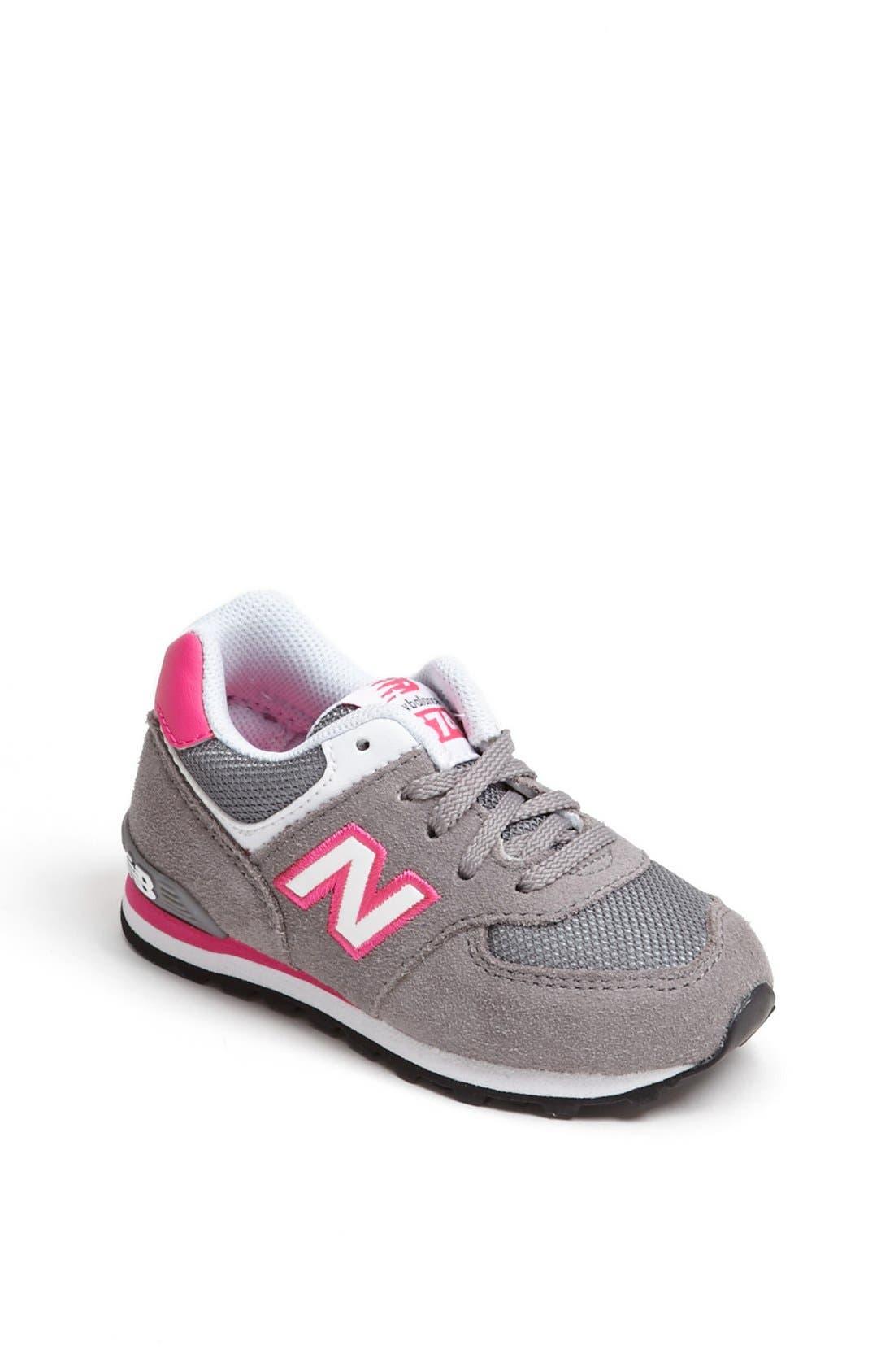 Alternate Image 1 Selected - New Balance '574' Running Shoe (Baby, Walker & Toddler)