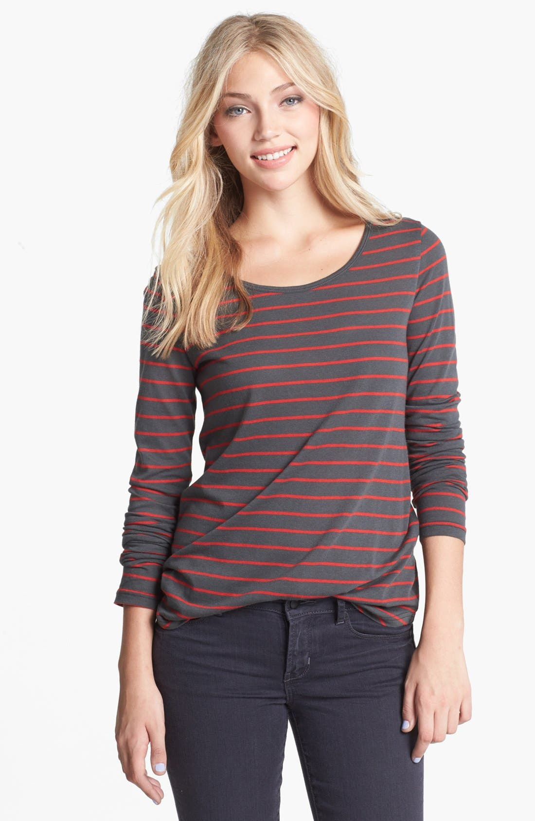 Main Image - BP. Stripe Long Sleeve Tee (Juniors)