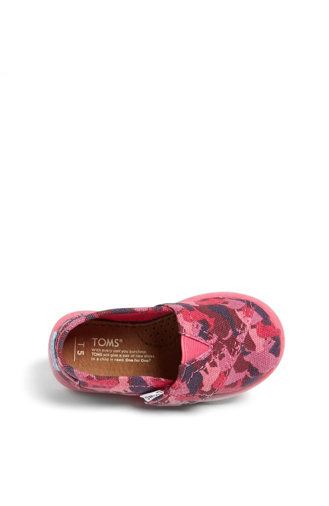 Alternate Image 3  - TOMS 'Classic Tiny - Animal Camo' Slip-On (Baby, Walker & Toddler)