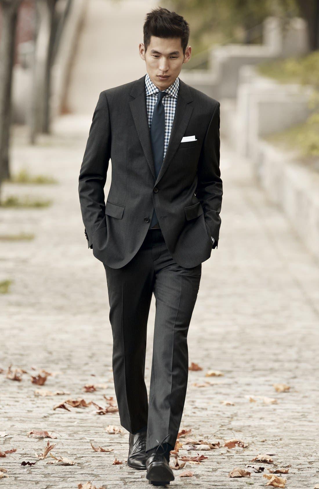Alternate Image 6  - BOSS HUGO BOSS 'James/Sharp' Trim Fit Check Suit