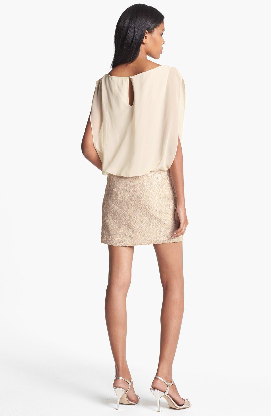 Alternate Image 2  - Aidan Mattox Embellished Blouson Dress (Online Only)