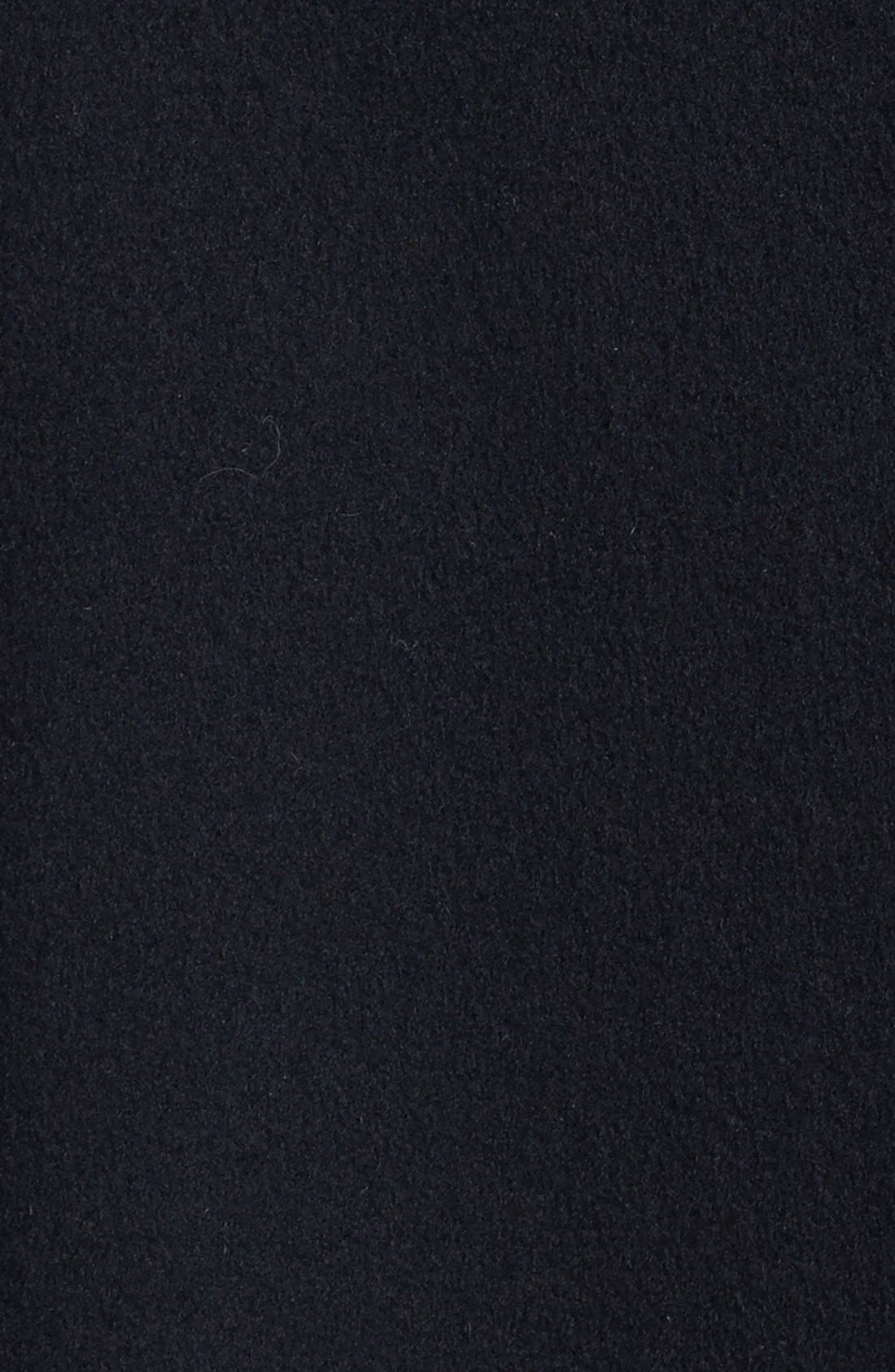 Alternate Image 3  - Fleurette Genuine Mink Fur Trim Loro Piana Wool Coat (Petite)