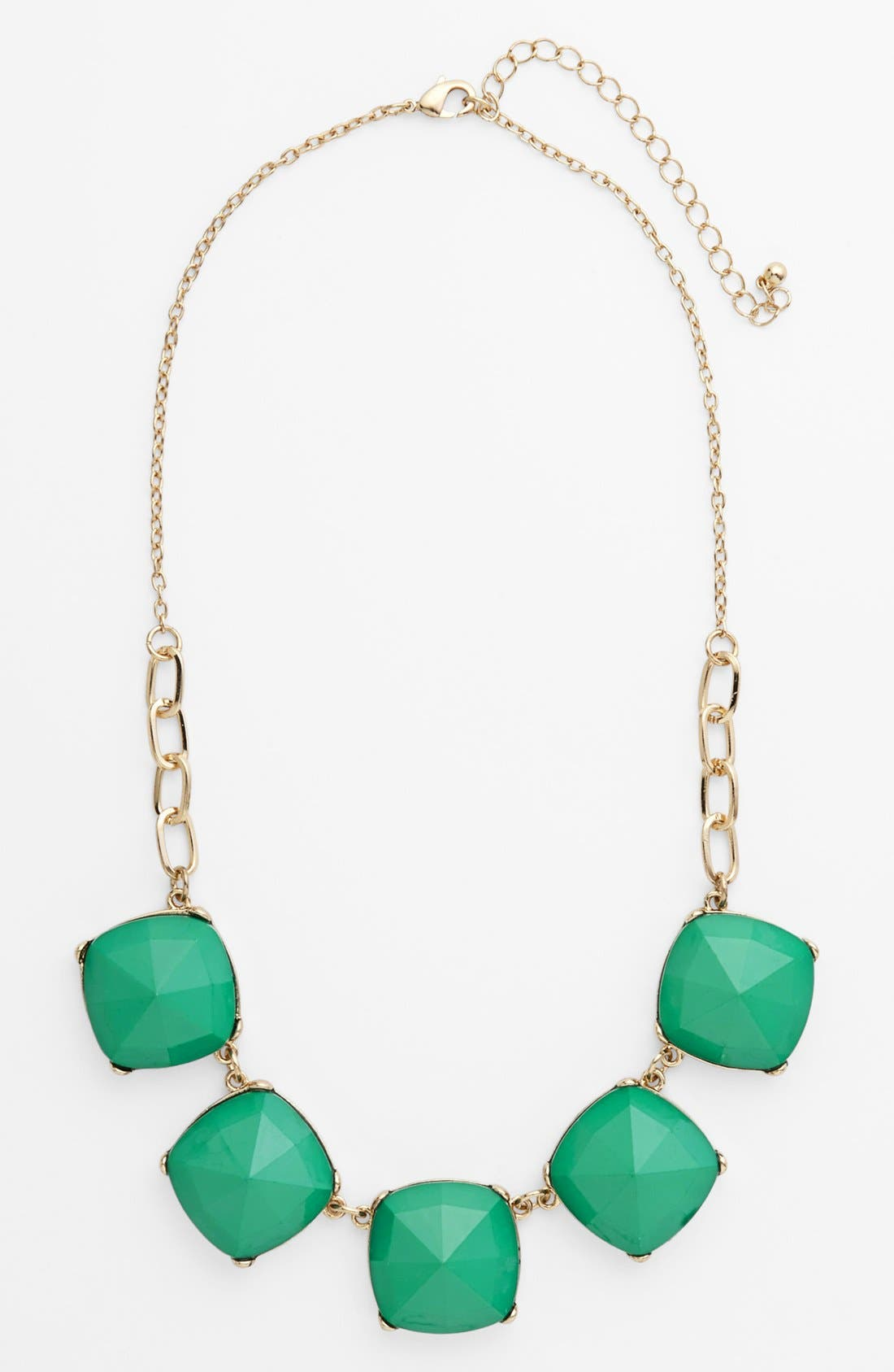 Alternate Image 1 Selected - Stephan & Co. Facet Statement Necklace (Juniors) (Online Only)