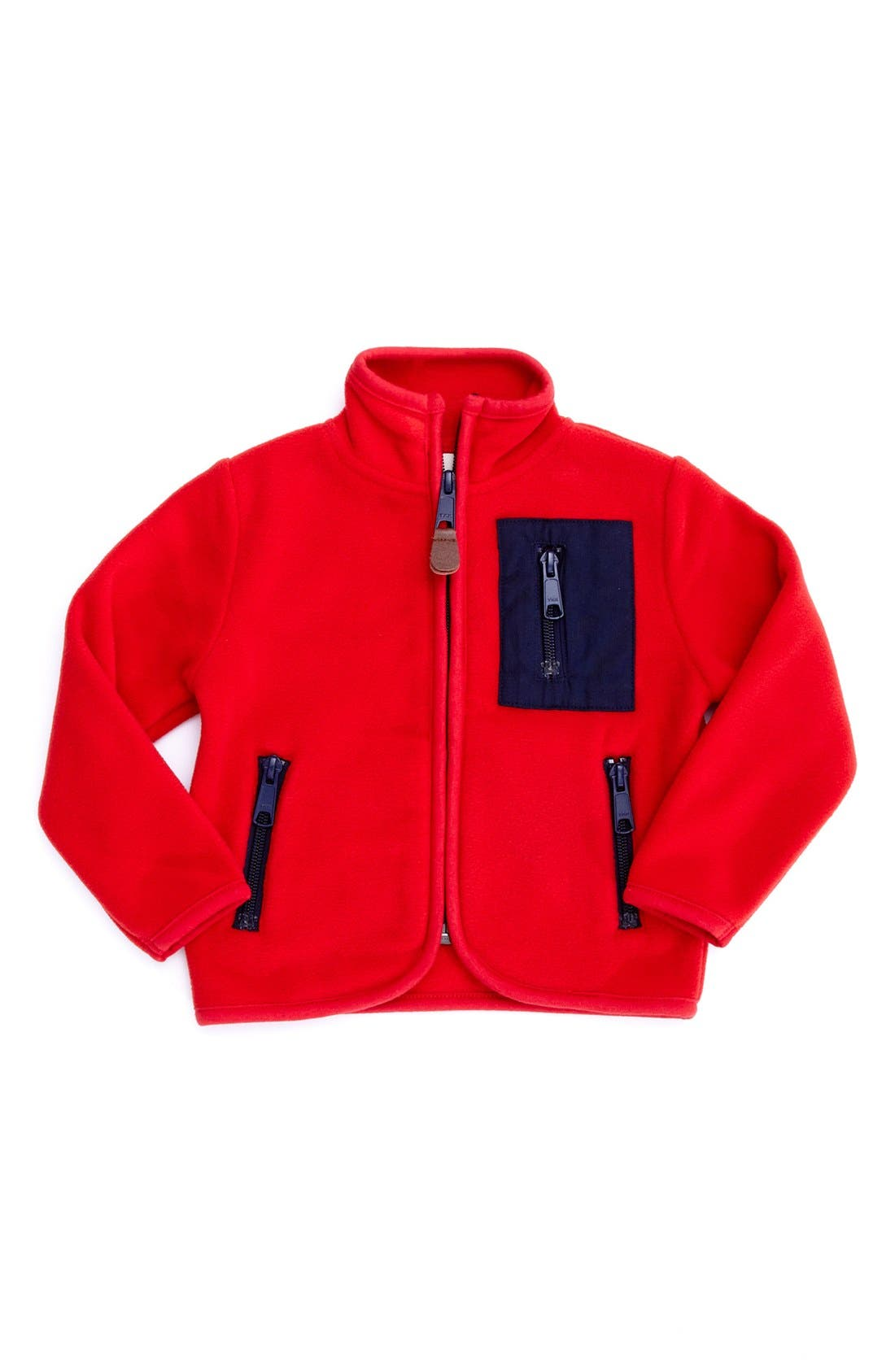 Alternate Image 1 Selected - Peek 'Raymond' Zip Fleece (Baby Boys)